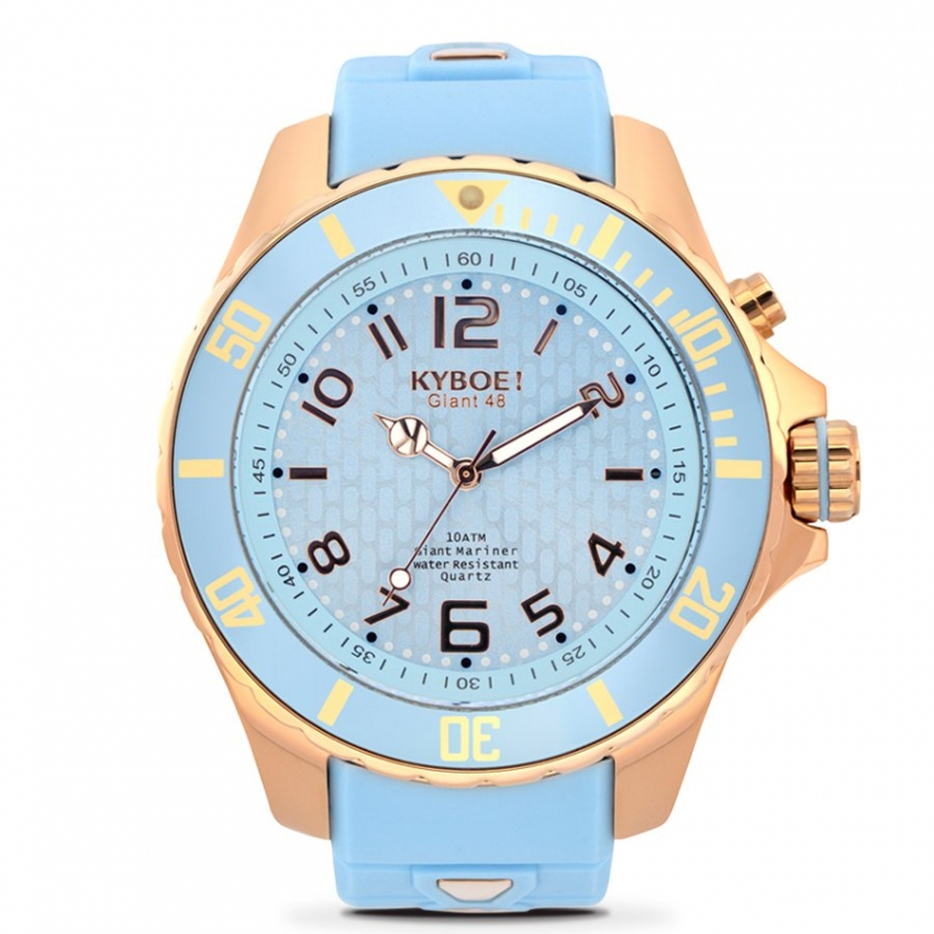 Watch Strap Light Blue/Rose Gold